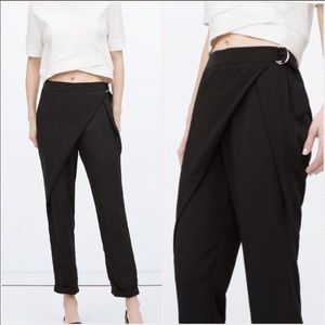 ZARA Wraparound Front Pants